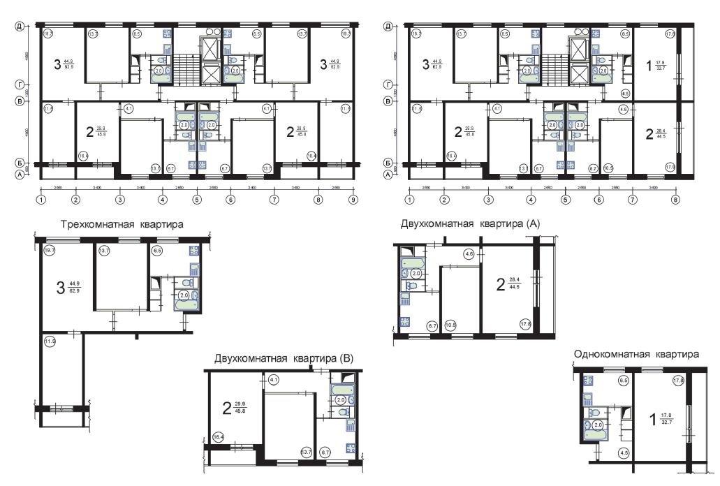 Размеры балкона серии 1605-ам 12..