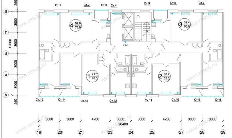Схема отопления типового этажа