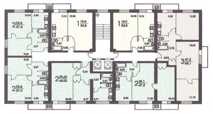 Схема планировки 2 комнатной квартиры фото 116