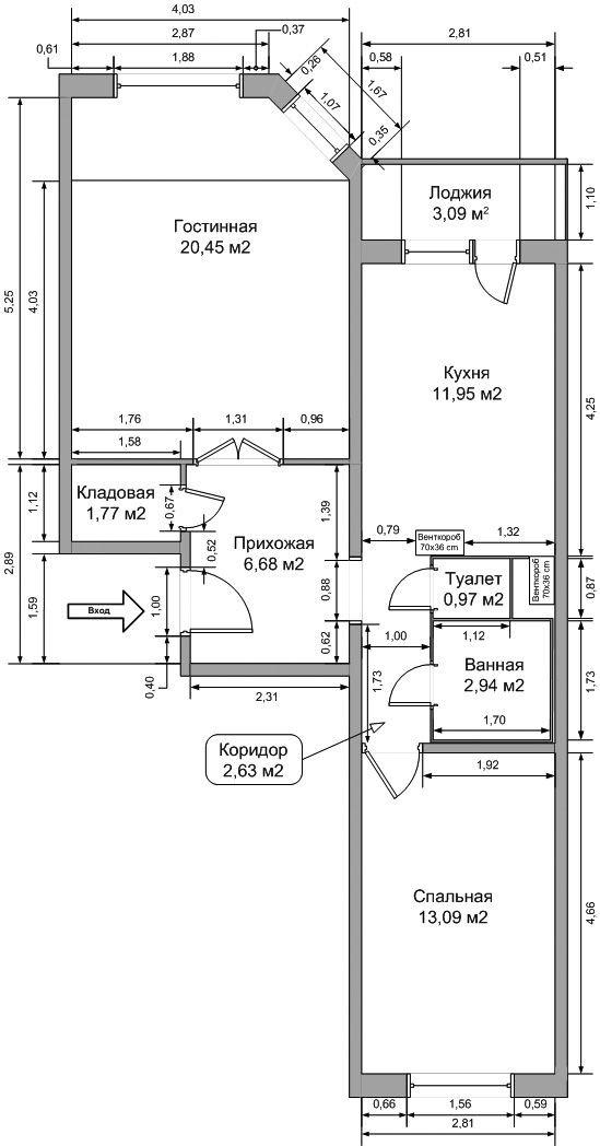 Серия дома п-49 д планировка