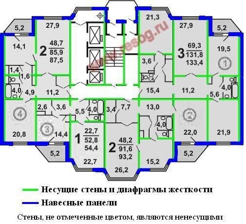 Серия П-44тм информация для согласования перепланировки « РЕСОГ