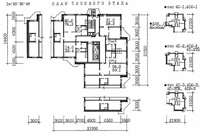Серия дома пд-4 - планировки квартир. всё о серии..