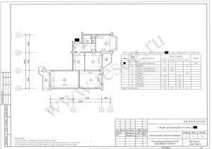Перепланировка панельной трехкомнатной квартиры. До перепланировки