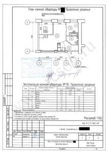 Проект перепланировки двухкомнатной хрущевки- План после ремонта