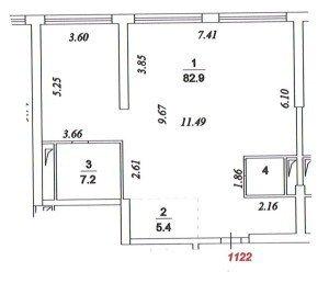 Поэтажный план квартиры в новостройке. Пример 2.