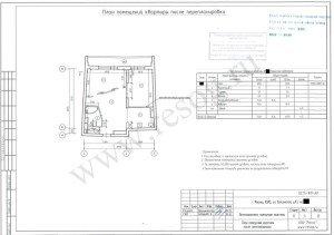 Проект перепланировки однокомнатной квартиры в двухкомнатную. После переустройства.
