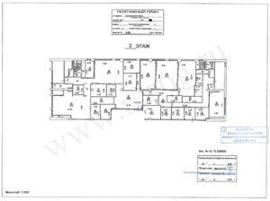 План БТИ помещения после перепланировки.
