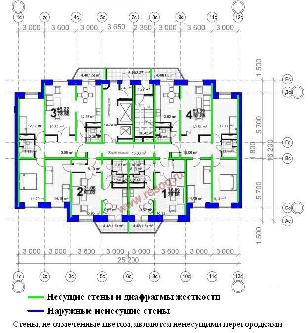 Серия с-220- информация для согласования перепланировки..