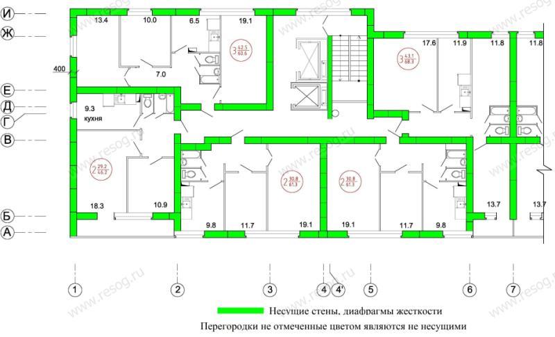 Серия п 68 01 размер балкона. - лоджии - каталог статей - ба.