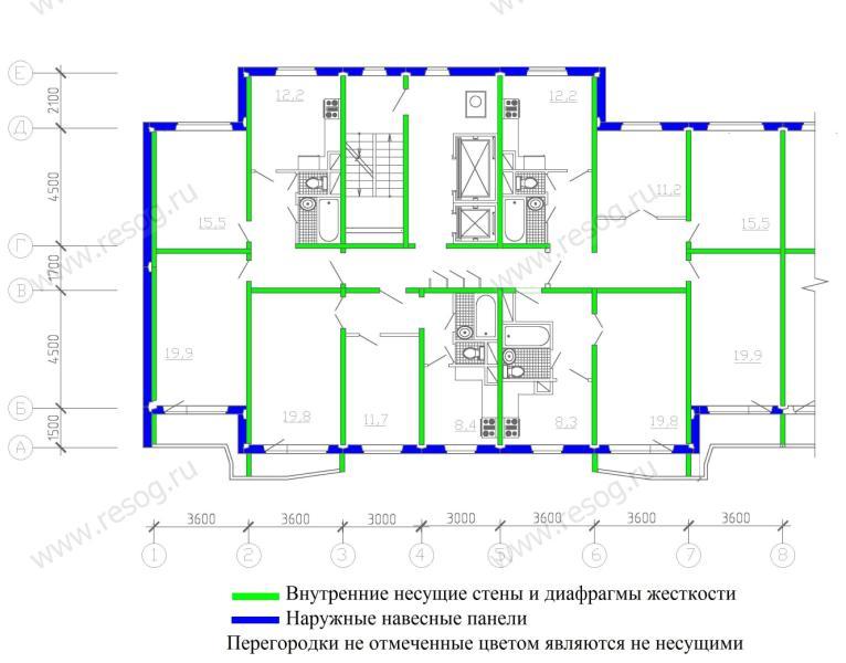 схема укладки плит перекрытия