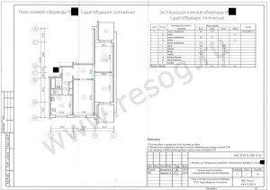 П-3 перепланировка 3-комнатной квартиры- До переустройства.