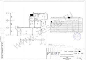 Перепланировка 3-х комнатной квартиры серии п44т- после переустройства.